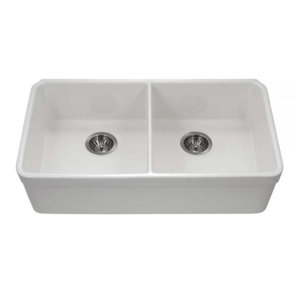 Chelsea Undermount 50/50 Double Bowl with HIGH WALL (CHE-3318DHU-WH)