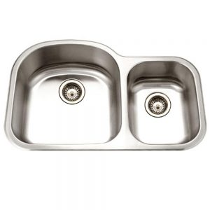Designer 70/30 Double Bowl/Prep Bowl Right (DES-3322DR)