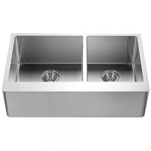 Hudson 60/40 Double Bowl/Prep Bowl on the Right (HUD-3320D)