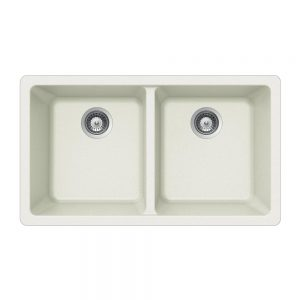 SiOStone Undermount 50/50 Double Bowl (SIO-3319DU-WH)